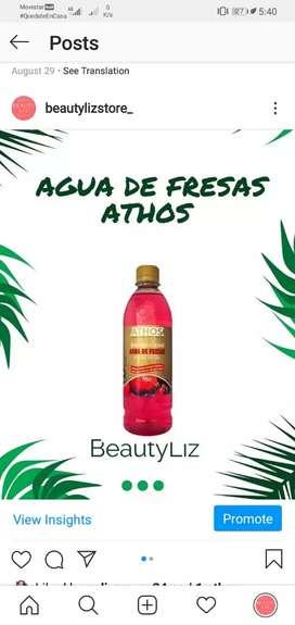 Agua de fresas 500ml