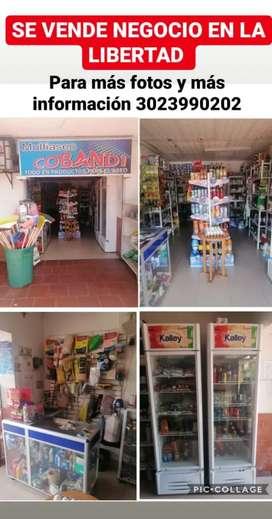 Se vende negocio en la avenida 12 barrio La libertad