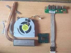 micro disipador placa usb y audio notebook