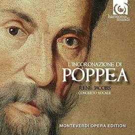 3 CD - Claudio Monteverdi: L'incoronazione di Poppea - Concerto Vocale & René Jacobs (Conductor).