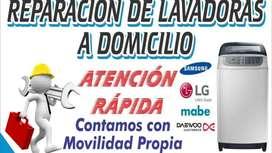REPARACIÓN DE LAVADORAS A DOMICILIO