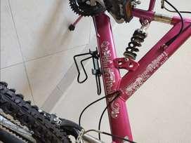 Bicicleta color fucsia