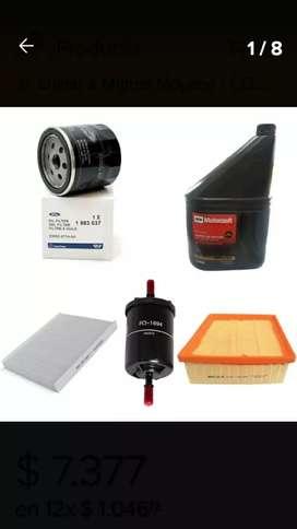 Aceite  de Motor Semisintetico + Kit Filtros