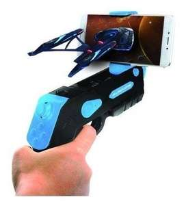 Black Fin AR BLASTER V.3 - Worlds AR — Augmented Reality Blaster Pro Edition DE REAL VIRTUAL PARA IPHONE O ANDROIDE