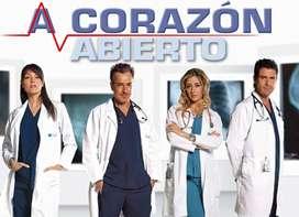 A corazón abierto (2010-2011) (2 temporadas que constan de 169 episodios + 5 películas obsequio en 10 discos DVD-R.