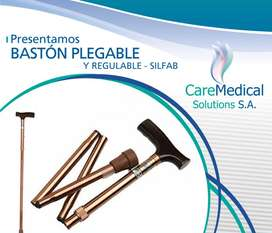 Baston Plegable y Regulable SILFAB B1003 Ortopedia CARE MEDICAL