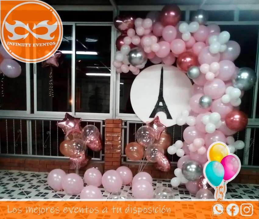 Decoracion en globos y bombas para cumpleaños
