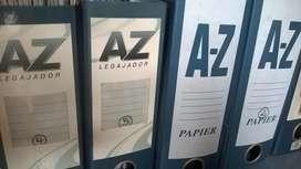 Folder AZ Medio Oficio de 21 cm altura 3900