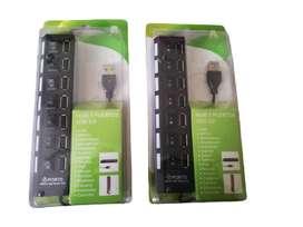 Hub Multipuerto USB Extensión 7 Puertos Usb 2.0 Led