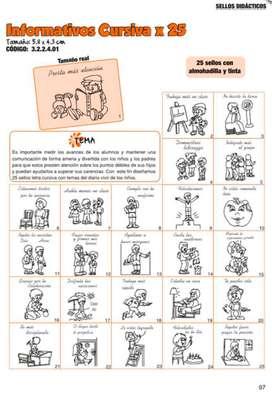 Sellos Didácticos Informativos Cursiva X 25