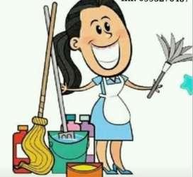 Busco trabajo  como auxiliar de limpieza de oficinas y patios