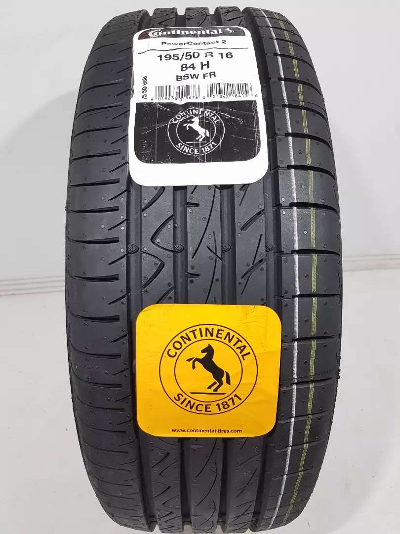 Neumático Continental 195/50R16 84H PowerContact 2 Ford Fiesta Kinetic 0