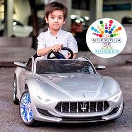 Auto Deportivo Maserati Alfieri A Bateria Para Niños Mp4 Usb