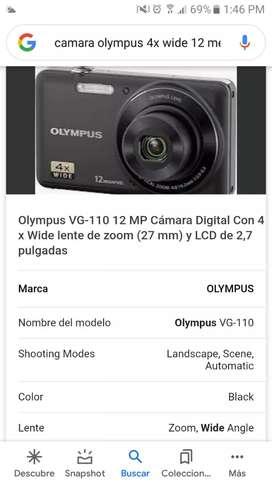 Camara digital olympus 4 wide 12 megapixeles con memoria