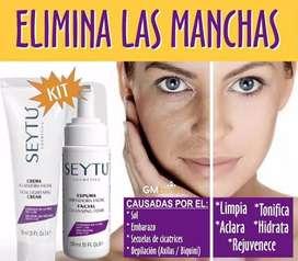 Elimina esas incómodas manchas de tu cara y cuerpo con productos SEYTU