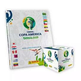 Caja Paqueton Album Copa America Brasil 2019 Panini