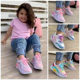 Zapato Tennis Deportivo Para Niña
