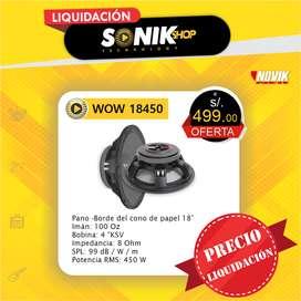 Woofer 18 Pulgadas Novik Wpw18450