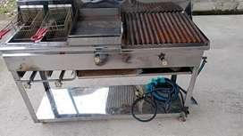 Freidora y cocina industrial