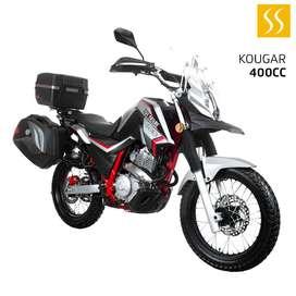 MOTO SHINERAY KOUGAR XY400GY-3 400CC 2021 GRIS GRATIS MATRICULA + CASCO GARANTIA DE 30000KM