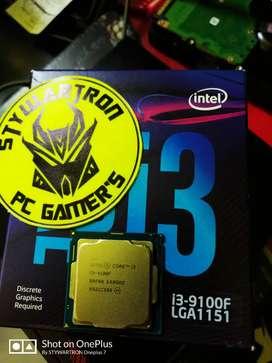 Procesador Intel core I3 9100f 4 nucleos a 4.2ghz