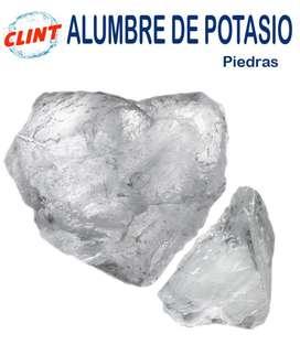 ALUMBRE DE POTASIO 100% NATURAL- PIEDRAS