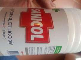 Alvohol etílico sankcol de 1 litro