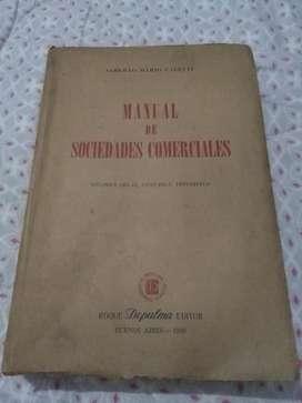MANUAL DE SOCIEDADES COMERCIALES . ALBERTO CALETTI LIBRO 1956 DE PALMA