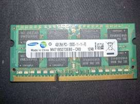 Memoria ram 4GB  ddr3 samsung notebook