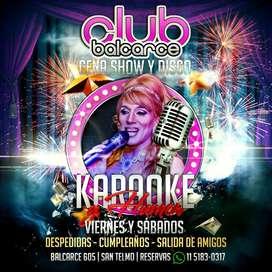 Balcarce Club Cantobar Karaoke Lounge Cena Show