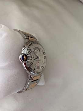 Reloj cartier ballon bleu oro rosado