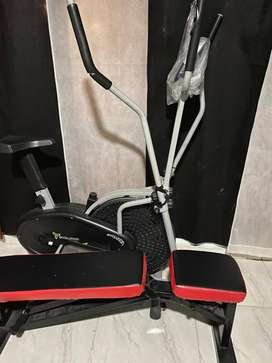 Bicicleta mas banco de mancuernas