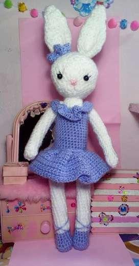 Coneja Bailarina Crochet Amigurumi