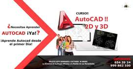 CURSO DE AUTOCAD, CLASES DE AUTOCAD, APRENDER AUTOCAD