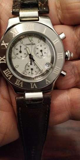 Reloj Cartier Crono Funcional Acer Y Zaf