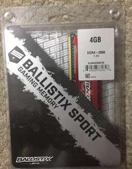 Memoria DDR4 -4GB. BALLISTIX SPORT