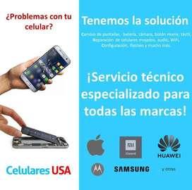 Reparación de celulares Smartphones samsung. Tienda San Borja huawei xiaomi lg apple iphone