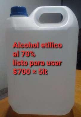 ALCOHOL ETILICO AL 70%