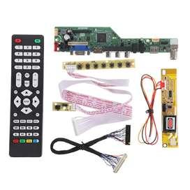 T.V53.03 Placa de controlador de TV LED LCD universal TV / PC / VGA / HDMI / USB Control Remoto