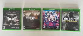 4 juegos de Xbox por $150.000