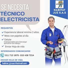 SE NECESITA TÉCNICO ELECTRICISTA