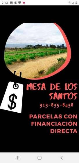 MESA DE LOS SANTOS PARCELAS SOBRE VIA PRINCIPAL..FINANCIADAS