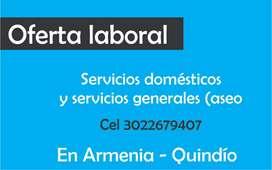 Servicio doméstico y servicios generales