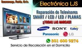 Técnico, Reparación de Televisores Smart TV,  LCD, Samsung - LG - SONY, Curvos, 4k