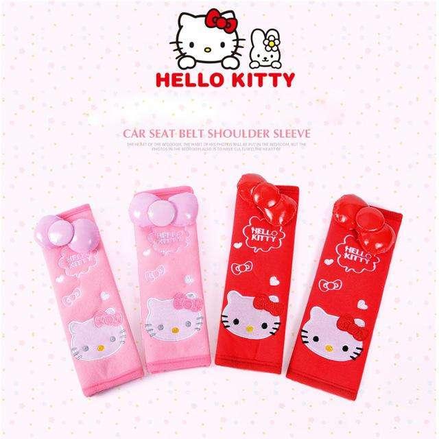 Protector de cinturon de seguridad Hello Kitty