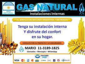 GAS NATURAL INSTALACIONES INTERNAS