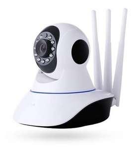 Cámara Robótica De Seguridad Wifi 3 Antenas 1080p Nube Micro