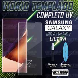 Vidrio Cristal templado Protector UV Dispersión Liquida Compatible con Huella para Samsung Galaxy Note 20 Ultra