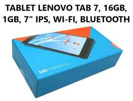 "TABLET LENOVO TAB 7, 16GB, 1GB, 7"" IPS WI-FI BLUETOOTH Nuevo en tienda"