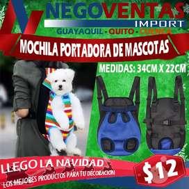 MOCHILA PEQUEÑA PARA CARGA MASCOTA MEDIDAS 34 CMS X 22 CMS